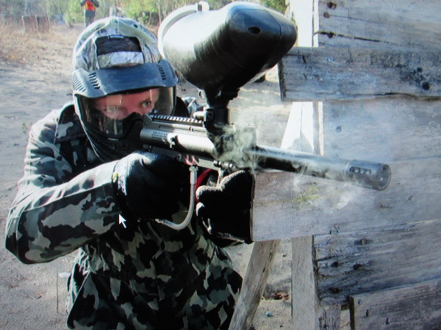 Taking charge in paintball