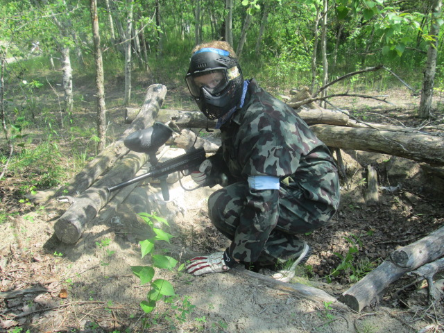 Paintball soldier