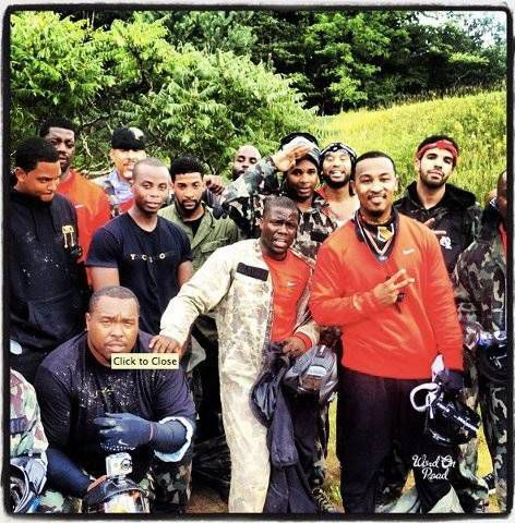 drake and kevin hart paintballing