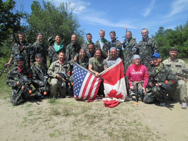 Group events paintball