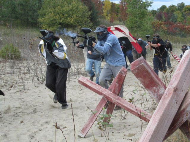 In action - paintball game