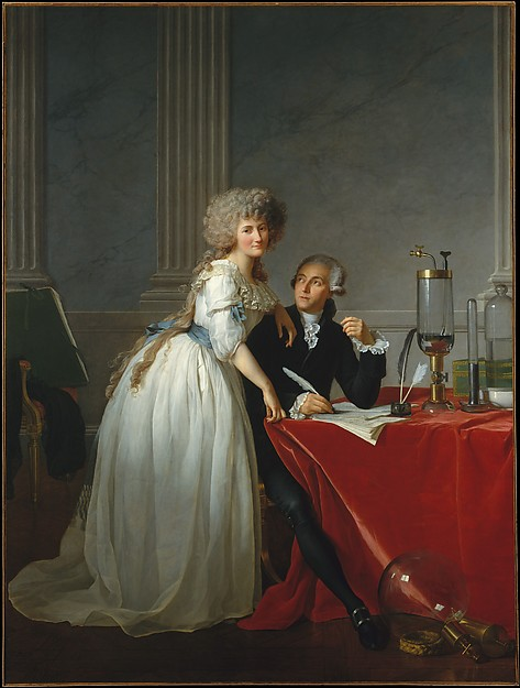 She's about to blind you with science! Jacques Louis David's portrait of Antoine-Laurent Lavoisier (1743–1794) and His Wife (Marie-Anne-Pierrette Paulze, 1758–1836)