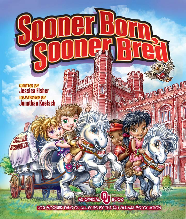 Sooner Born, Sooner Bred    Childrens Book  Client :  University of Oklahoma  Medium:  Digital
