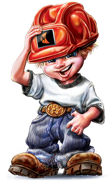 Jack  Character Design for  Ditch WItch Jack  Childrens Book   Client :  Ditch Witch  via Fellers Advertising   Medium:  Digital
