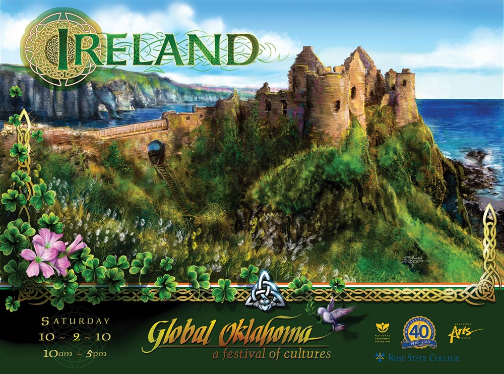 Ireland  - Global Oklahoma Poster  Client: Rose State College Medium: Digital