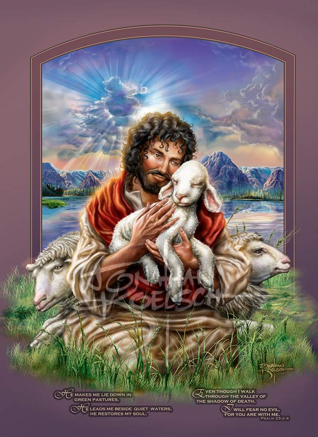 The Good Shepherd   Client:  Bob and Barbara Streets Medium: Digital