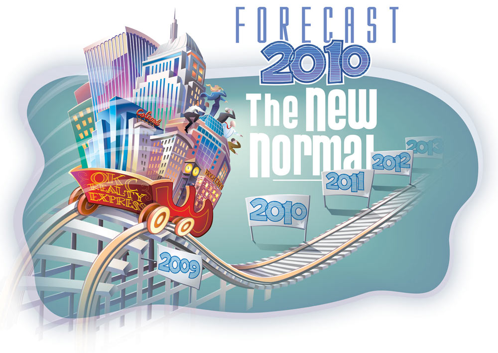 Forecast 2010 - The New Normal           Client:   CREC (Comm. Realtors) via Mindseye Advertising   Medium:    Vector Art (Adobe Illustrator)