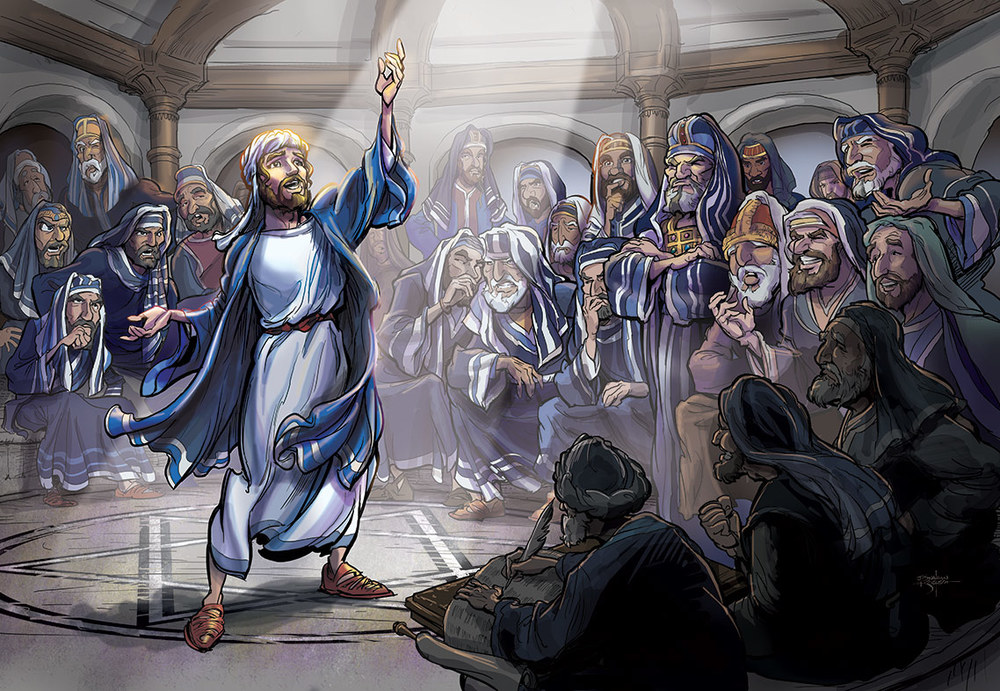 Stephen at Sanhedrin    Client:  Gospel Light Publications  Medium:  Digital