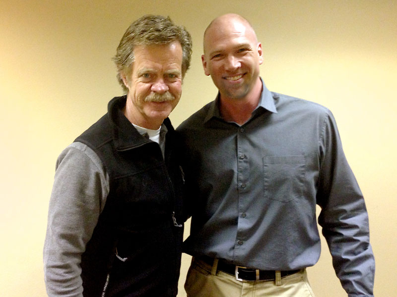 William H. Macy and Myself.  Bill was great, fun to work with, and a very skilled guitar & ukelele player.
