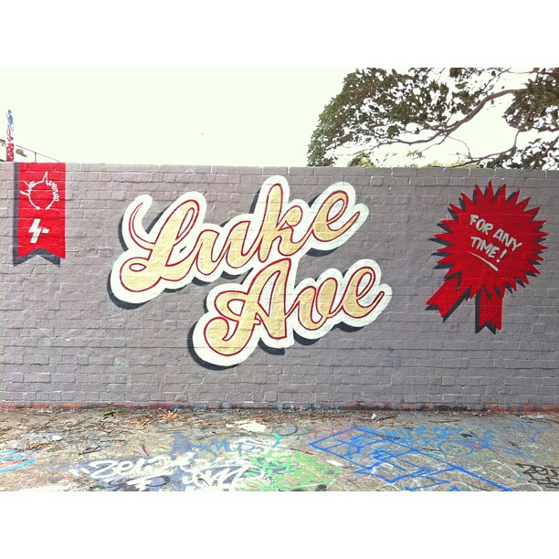 For our great friend Maddy, Luke Ave boss !  www.lukeavenue.com.au  (Taken with  Instagram  at Camperdown Basketball Courts)