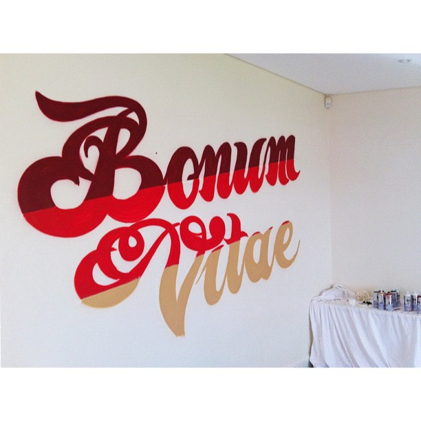 Progress shot from today's interior decorating. 'Bonum Vitae' (the good life) (Taken with  Instagram  at Stanmore)