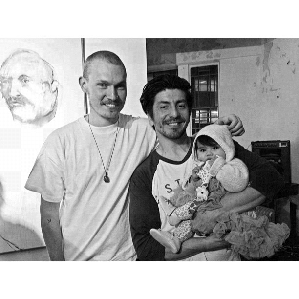 The man himself (Ears) & of course the cutest gal of the night, Skylar-Lovelle.' False Freedoms', a solo exhibition. @captainearwax  (Taken with  Instagram  at Soldiers Rd Gallery)