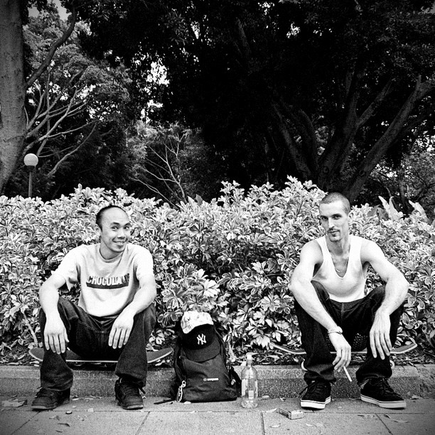 Outstanding Street Skaters, Mick Yuen & Dean Armour. (Taken with  Instagram  at Hyde Park)