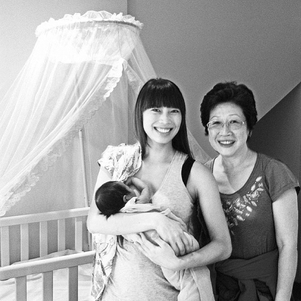 Our Beloved 1st Time Grandmother Arrived Today.  (Taken with  Instagram  at The Abode )