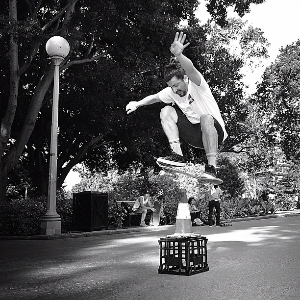 180 Ollie. Pic by Kiernan Smith. (Taken with Instagram at Hyde Park)