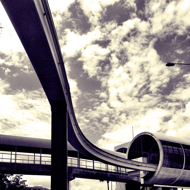 The Lines (Taken with  Instagram  at Darling Park Monorail)