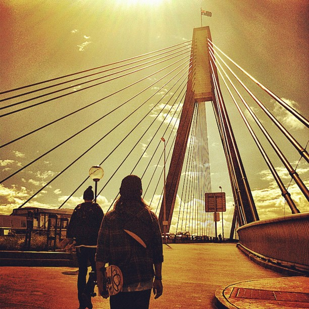 Golden times… @snh666 @hoshikei @hamagram (Taken with Instagram at Anzac Bridge)