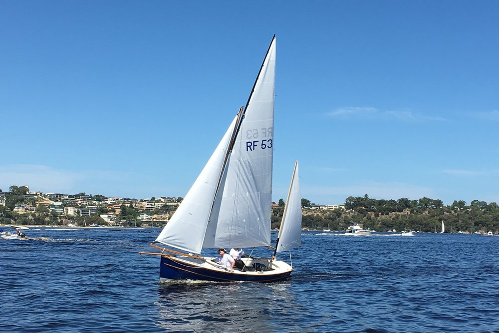 FALA - Bayraider 20Built in 2017 by Andrew Denman at Denman Marine in Kettering Tasmania. A Swallow Yachts design. West System build with celery top pine structural elements and mast as well as huon pine trim.