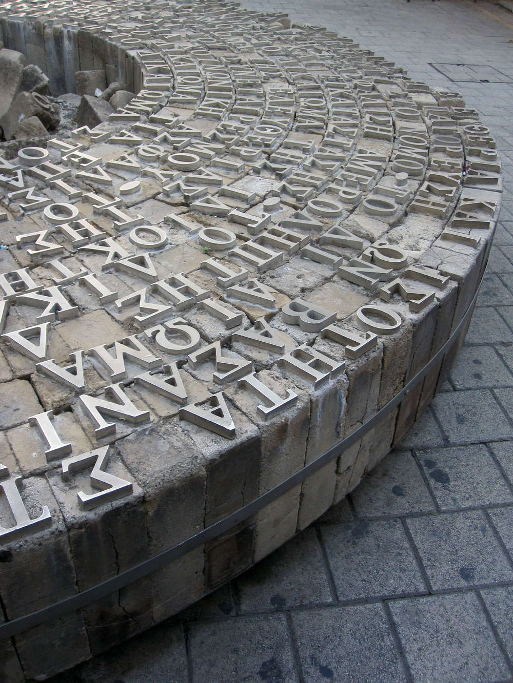 These enormous cast concrete types carry a hard message