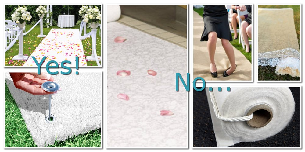 Some aisle runners are good. A lot of aisle runners are bad. I'll still coordinate your wedding if you buy a runner, but I won't be happy about it.