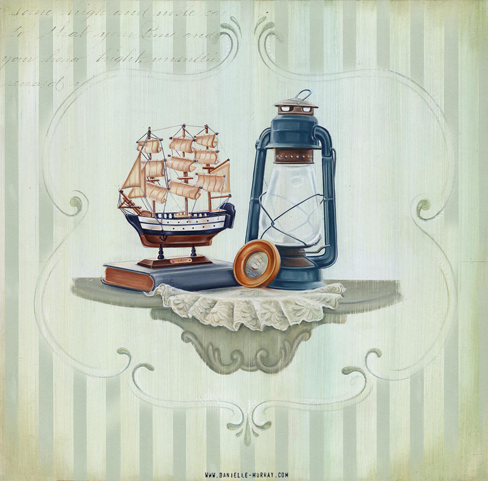 "Danielle Murray ""At Sea, Still"" 16 x 16 in. oil on board"