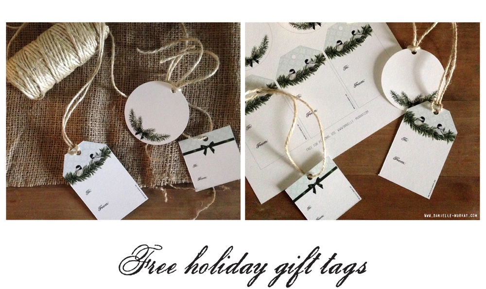 Holiday Gift Tags,  www.danielle-murray.com