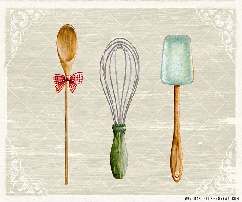 Danielle Murray, Vintage Baking Collection, Utensils