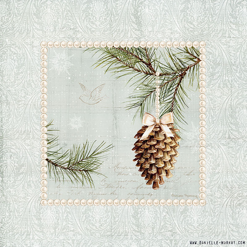 Danielle Murray, Woodland Holiday Ornaments, Pinecone