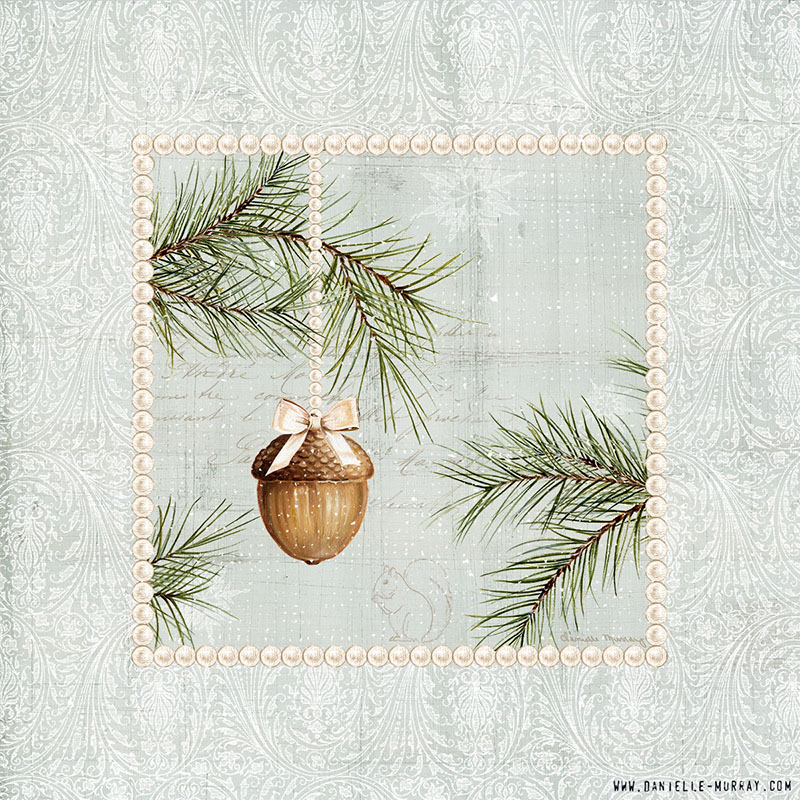Danielle Murray, Woodland Holiday Ornaments, Acorn
