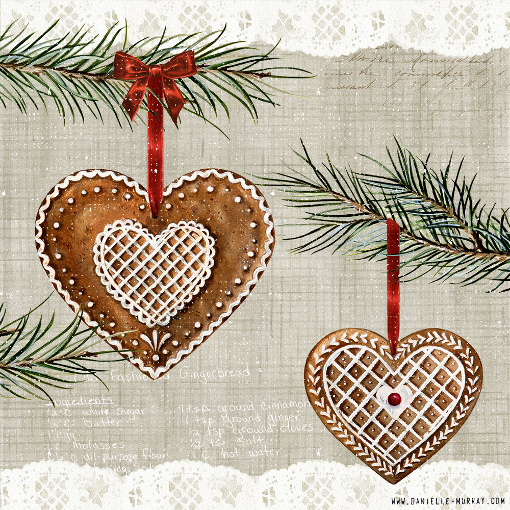 Danielle Murray, Gingerbread Ornament Collection, Hearts