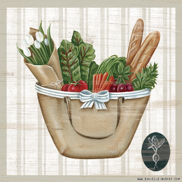 Danielle Murray, To Market, Tote Bag