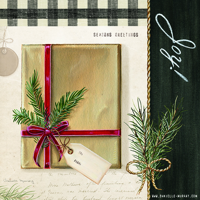 Danielle Murray, Holiday Wrapping Collection, Gift