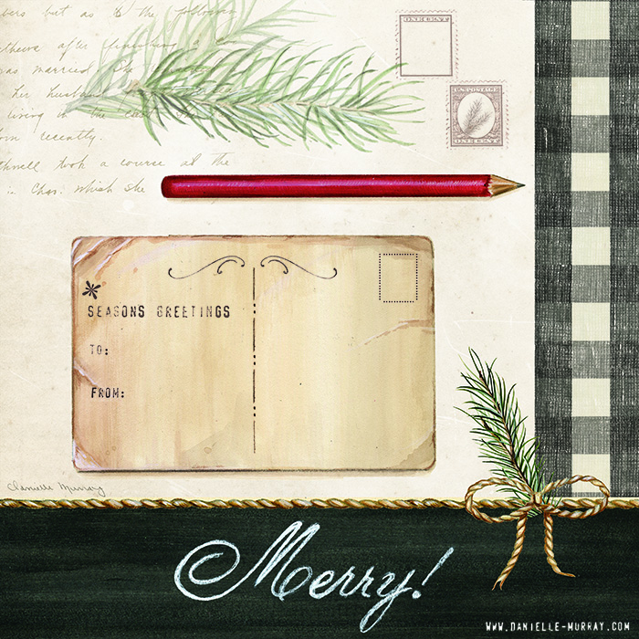 Danielle Murray, Holiday Wrapping Collection, Postcard