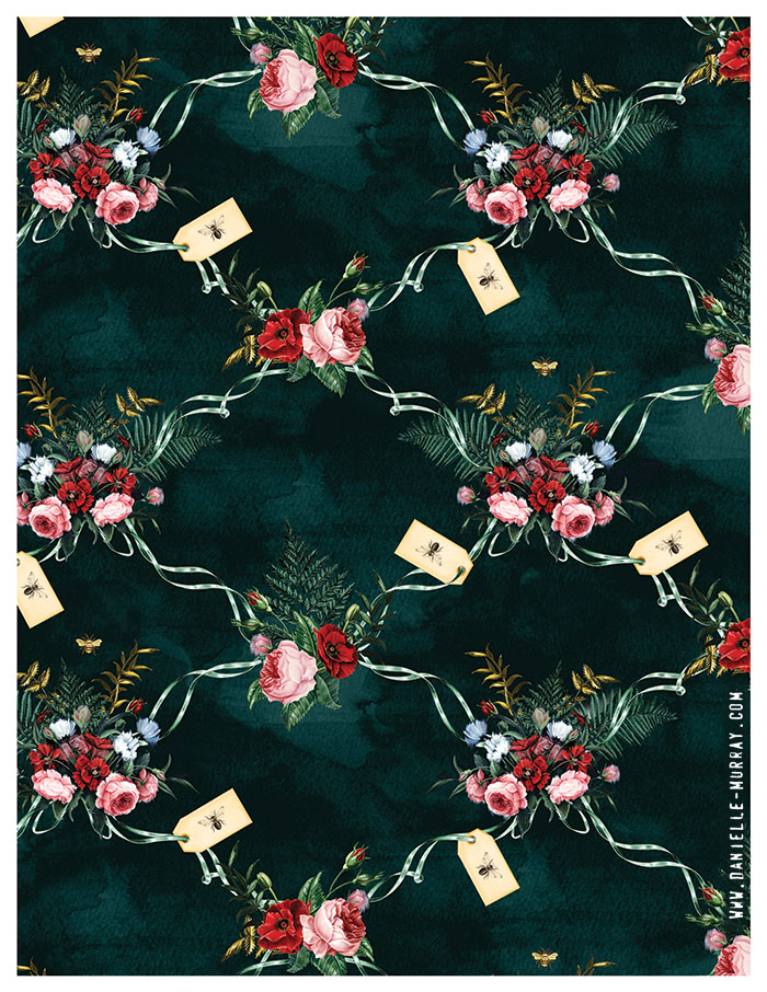 Danielle Murray, Midnight Floral Repeat