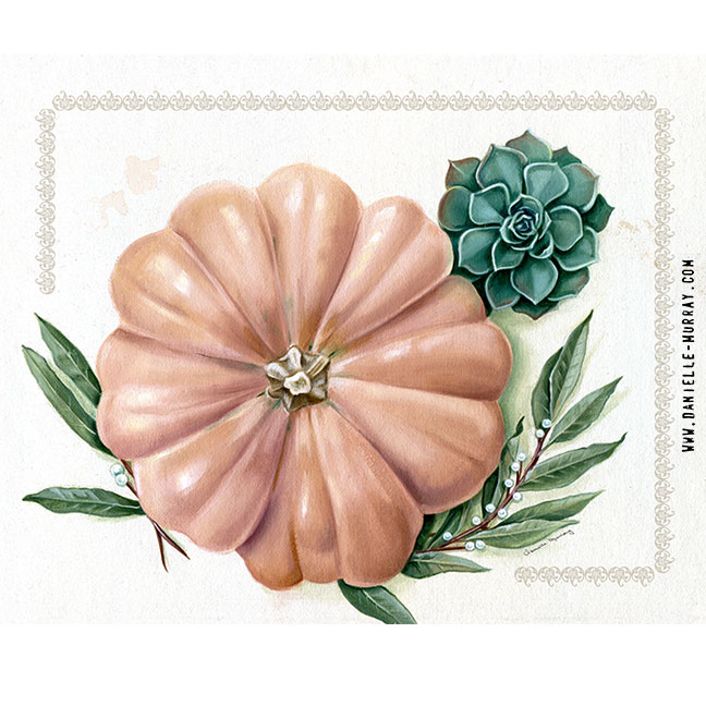 Danielle Murray, Harvest Botanical Painting
