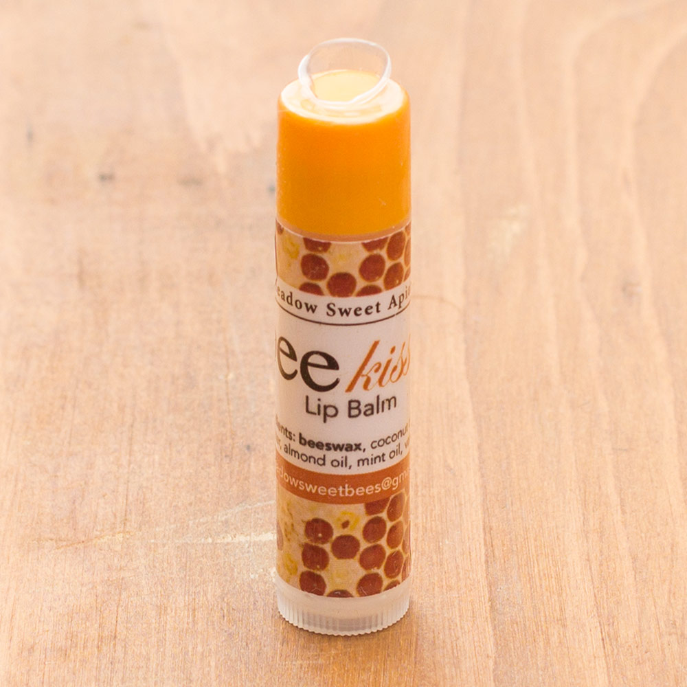 Let your lips bee kissed with our all natural lip balms made with local honey and wax1