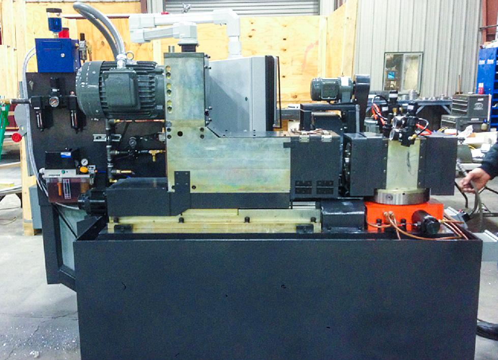 Trick #3 - Horizontal CNC boring machine with pendulum for high volume production.