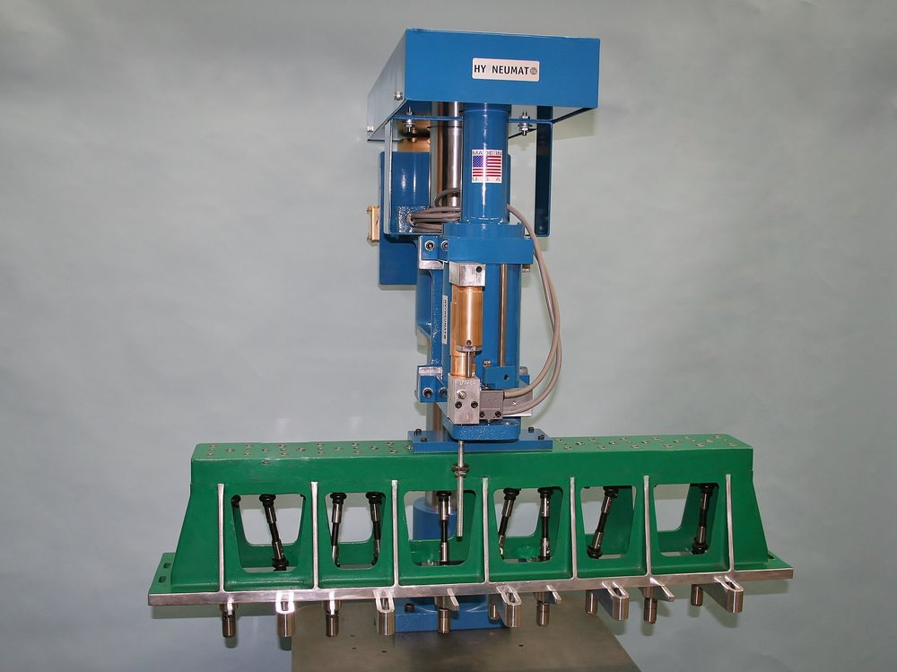 10-Spindle Vertical Drilling Machine for In-Line Hole Pattern.