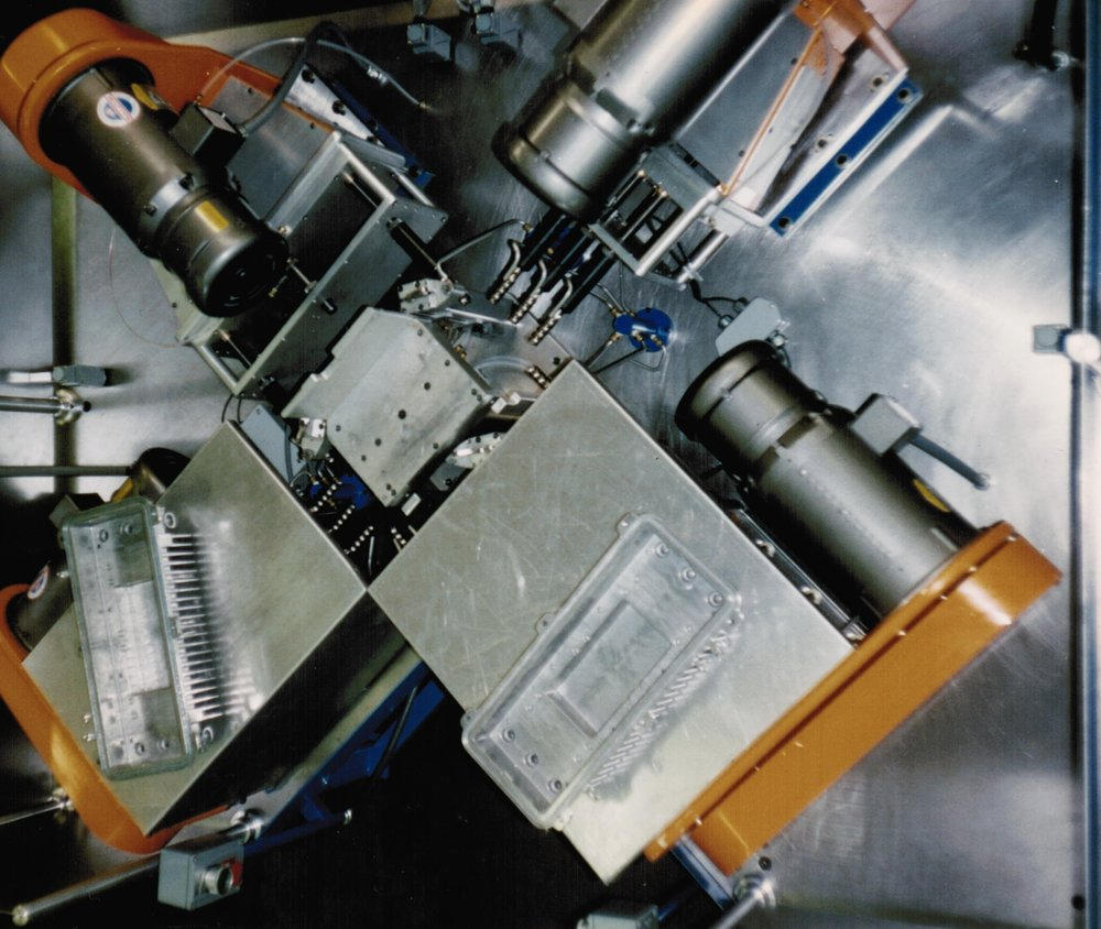 Top View of 4Way Tapping Machine for Die Cast Housings