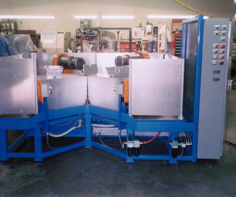 Front View of 4Way Tapping Machine for Die Cast Housings