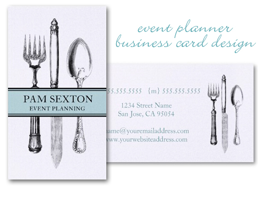 New Event Planner Business Card Design Charming Ink
