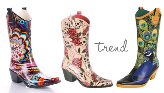 Rain Boots Cowboy
