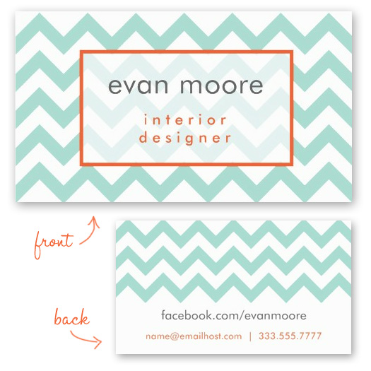New chevron business card templates — Charming Ink