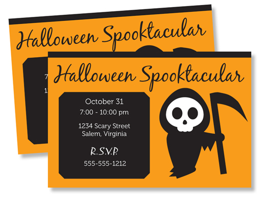 Halloween party invite