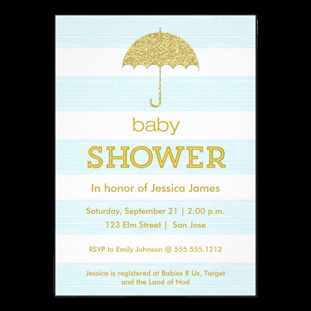 Glitter Umbrella Baby Shower Also inPink