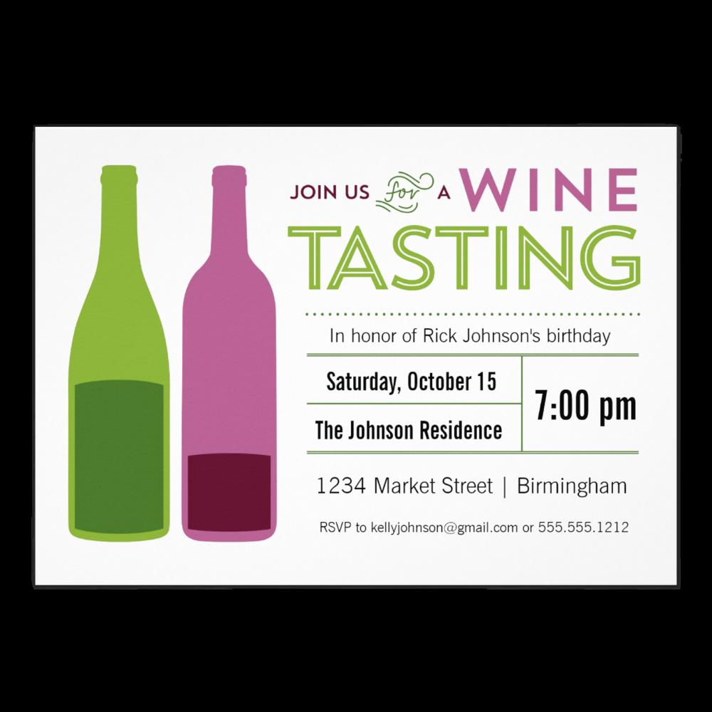 Modern Wine Tasting   5 x 7 Invitation