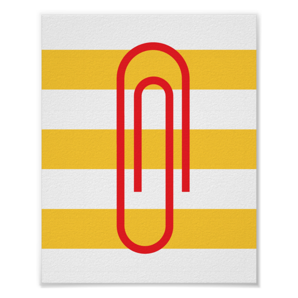 Minimalist paperclip poster Choose your size & paper