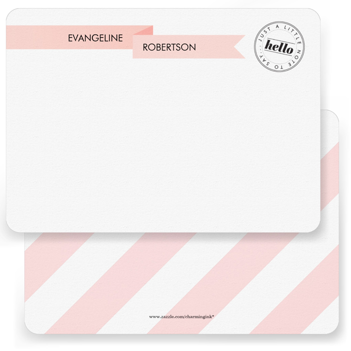Pretty Ribbon Note Cards  5 x 7