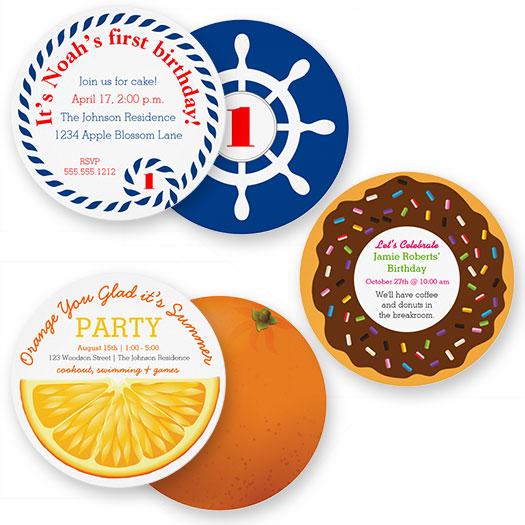 Nautical Invitations  |  Orange Invitations  |  Donut Invitations