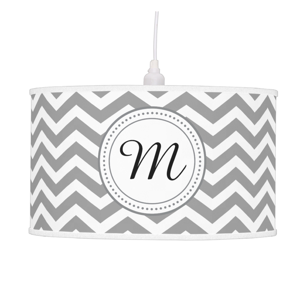Chevron monogram pendant lamp     also available as table lamp